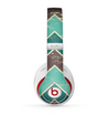 The Vintage Green & Tan Chevron Pattern V2 Skin for the Beats by Dre Studio (2013+ Version) Headphones