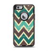 The Vintage Green & Tan Chevron Pattern V3 Apple iPhone 6 Otterbox Defender Case Skin Set