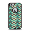 The Vintage Green & Tan Chevron Pattern V4 Apple iPhone 6 Otterbox Defender Case Skin Set