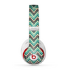 The Vintage Green & Tan Chevron Pattern V4 Skin for the Beats by Dre Studio (2013+ Version) Headphones