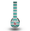 The Vintage Green & White Chevron Pattern V4 Skin for the Beats by Dre Original Solo-Solo HD Headphones