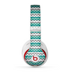 The Vintage Green & White Chevron Pattern V4 Skin for the Beats by Dre Studio (2013+ Version) Headphones