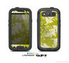The Vintage Green & White Floral Pattern Skin For The Samsung Galaxy S3 LifeProof Case
