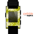 The Vintage Green & White Floral Pattern Skin for the Pebble SmartWatch