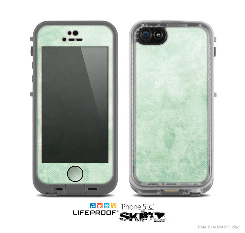 The Vintage Grungy Green Surface Skin for the Apple iPhone 5c LifeProof Case