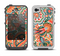 The Vintage Hand-Painted Coral Abstract Pattern Apple iPhone 4-4s LifeProof Fre Case Skin Set