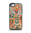 The Vintage Hand-Painted Coral Abstract Pattern Apple iPhone 5-5s Otterbox Symmetry Case Skin Set
