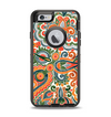 The Vintage Hand-Painted Coral Abstract Pattern Apple iPhone 6 Otterbox Defender Case Skin Set