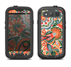 The Vintage Hand-Painted Coral Abstract Pattern Samsung Galaxy S3 LifeProof Fre Case Skin Set