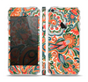 The Vintage Hand-Painted Coral Abstract Pattern Skin Set for the Apple iPhone 5