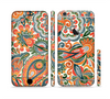 The Vintage Hand-Painted Coral Abstract Pattern Sectioned Skin Series for the Apple iPhone 6