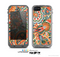 The Vintage Hand-Painted Coral Abstract Pattern Skin for the Apple iPhone 5c LifeProof Case
