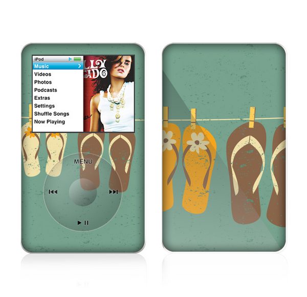 The Vintage Hanging Flip-Flops Skin For The Apple iPod Classic