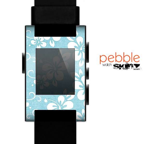 The Vintage Hawaiian Floral Skin for the Pebble SmartWatch