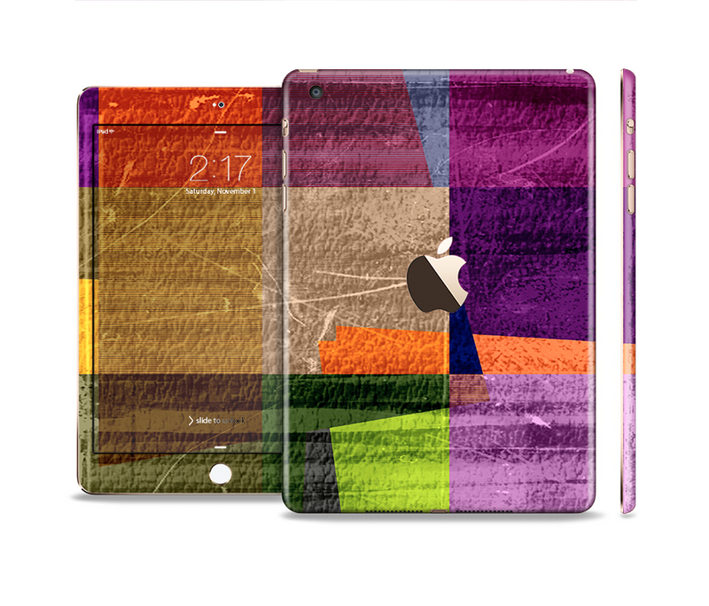 The Vintage Highlighted Panels of Color Full Body Skin Set for the Apple iPad Mini 3