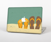 The Vintage His & Her Flip Flops Beach Scene Skin Set for the Apple MacBook Air 13""
