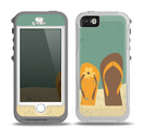 The Vintage His & Her Flip Flops Beach Scene Skin for the iPhone 5-5s OtterBox Preserver WaterProof Case