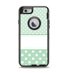 The Vintage Light Green Polka Dot With White Strip copy Apple iPhone 6 Otterbox Defender Case Skin Set