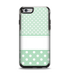 The Vintage Light Green Polka Dot With White Strip copy Apple iPhone 6 Otterbox Symmetry Case Skin Set
