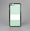 The Vintage Light Green Polka Dot With White Strip copy Skin-Sert Case for the Apple iPhone 6 Plus