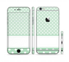 The Vintage Light Green Polka Dot With White Strip copy Sectioned Skin Series for the Apple iPhone 6 Plus