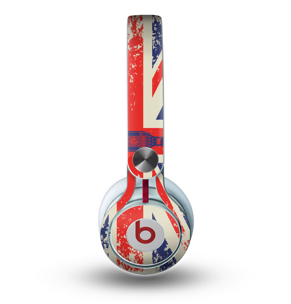 The Vintage London England Flag Skin for the Beats by Dre Mixr Headphones