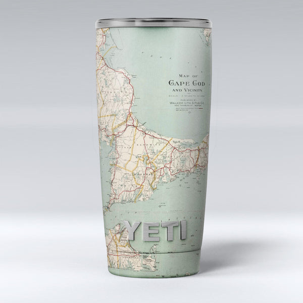 The_Vintage_Map_of_Cape_Cod_-_Yeti_Rambler_Skin_Kit_-_20oz_-_V1.jpg