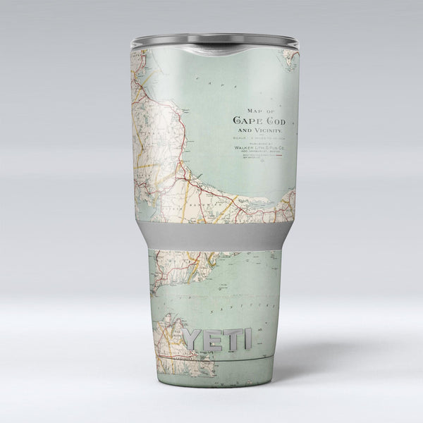 The_Vintage_Map_of_Cape_Cod_-_Yeti_Rambler_Skin_Kit_-_30oz_-_V1.jpg