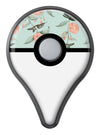 The Vintage Mint Floral Hummingbird  Pokémon GO Plus Vinyl Protective Decal Skin Kit