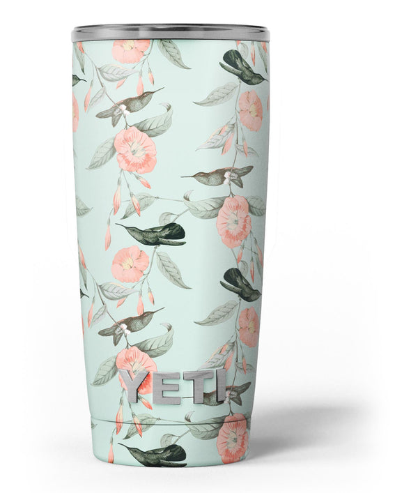 The_Vintage_Mint_Floral_Hummingbird_-_Yeti_Rambler_Skin_Kit_-_20oz_-_V3.jpg