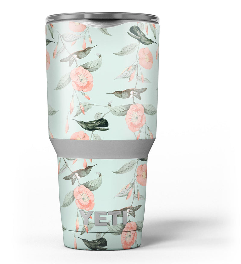 The_Vintage_Mint_Floral_Hummingbird_-_Yeti_Rambler_Skin_Kit_-_30oz_-_V3.jpg