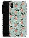 The Vintage Mint Floral Hummingbird  - iPhone X Clipit Case