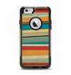 The Vintage Orange Slanted Stripes Apple iPhone 6 Otterbox Commuter Case Skin Set
