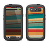The Vintage Orange Slanted Stripes Samsung Galaxy S3 LifeProof Fre Case Skin Set
