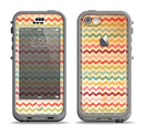 The Vintage Orange and Multi-Color Chevron Pattern V4 Apple iPhone 5c LifeProof Nuud Case Skin Set