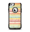 The Vintage Orange and Multi-Color Chevron Pattern V4 Apple iPhone 6 Otterbox Commuter Case Skin Set