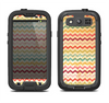 The Vintage Orange and Multi-Color Chevron Pattern V4 Samsung Galaxy S3 LifeProof Fre Case Skin Set