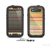 The Vintage Orange and Multi-Color Chevron Pattern V4 Skin For The Samsung Galaxy S3 LifeProof Case