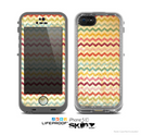 The Vintage Orange and Multi-Color Chevron Pattern V4 Skin for the Apple iPhone 5c LifeProof Case