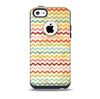 The Vintage Orange and Multi-Color Chevron Pattern V4 Skin for the iPhone 5c OtterBox Commuter Case