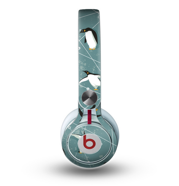 The Vintage Penguin Blue Collage Skin for the Beats by Dre Mixr Headphones