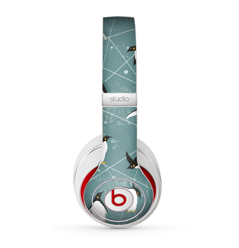 The Vintage Penguin Blue Collage Skin for the Beats by Dre Studio (2013+ Version) Headphones