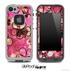 The Vintage Pink Floral Abstract Skin for the iPhone 4-4s or 5 LifeProof Case