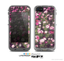 The Vintage Pink Floral Field Skin for the Apple iPhone 5c LifeProof Case