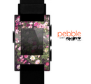 The Vintage Pink Floral Field Skin for the Pebble SmartWatch