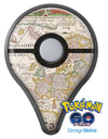 The Vintage Powers of Europe Map  Pokémon GO Plus Vinyl Protective Decal Skin Kit