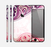 The Vintage Purple Curves with Floral Design Skin for the Apple iPhone 6 Plus