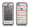 The Vintage Red & Blue Chevron Pattern Apple iPhone 5c LifeProof Nuud Case Skin Set