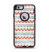 The Vintage Red & Blue Chevron Pattern Apple iPhone 6 Otterbox Defender Case Skin Set