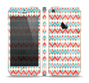 The Vintage Red & Blue Chevron Pattern Skin Set for the Apple iPhone 5s